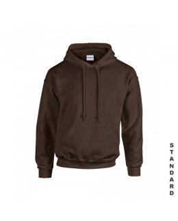 Brun hoodie med eget tryck