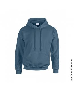Indigoblå hoodie med eget tryck
