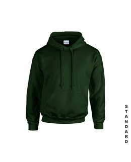Mörkgrön hoodie med eget tryck