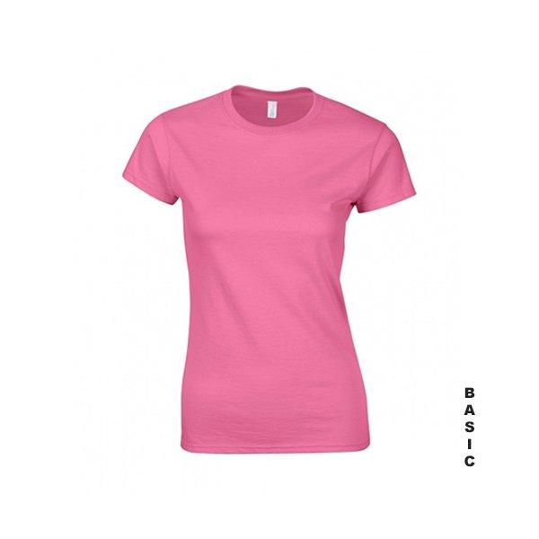 Rosa dam t-shirt med eget tryck