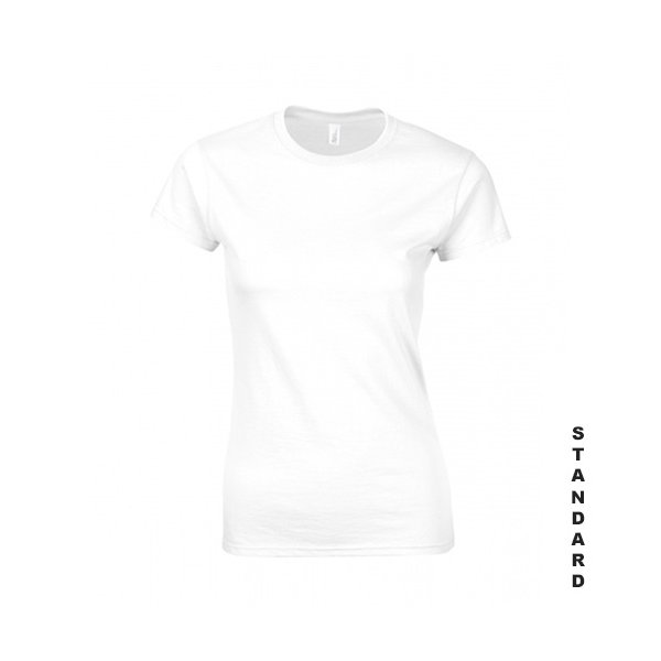 Vit dam t-shirt med eget tryck