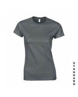 Blyertsgrå dam t-shirt med eget tryck