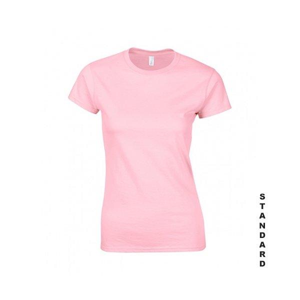Ljusrosa dam t-shirt med eget tryck, S-XXL, 100% bomull 0b149f7075