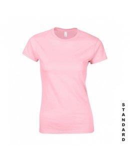 Ljusrosa dam t-shirt med eget tryck