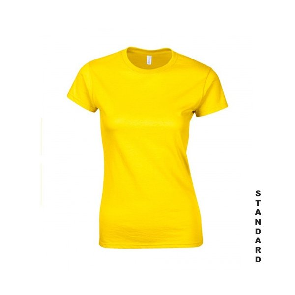 Gul dam t-shirt med eget tryck, S-XXL, 100% bomull 56f33b7a83