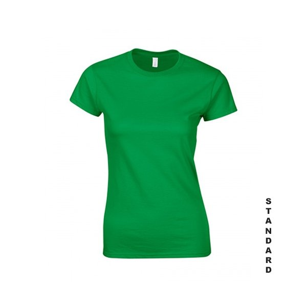 Grön dam t-shirt med eget tryck