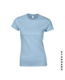 Ljusblå dam t-shirt med eget tryck