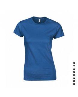 Kungsblå dam t-shirt med eget tryck