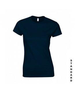 Marinblå dam t-shirt med eget tryck