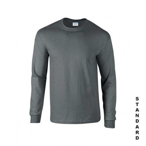 Blyertsgrå långärmad t shirt, longsleeve med eget tryck
