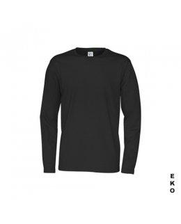 Svart långärmad t-shirt med eget tryck