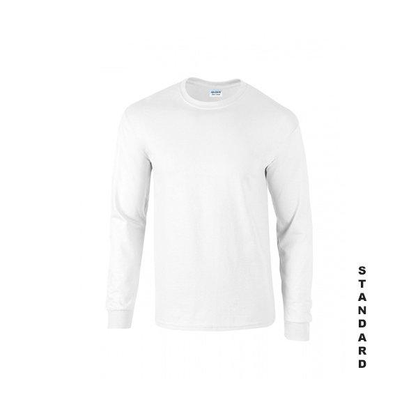 Vit långärmad t-shirt med eget tryck