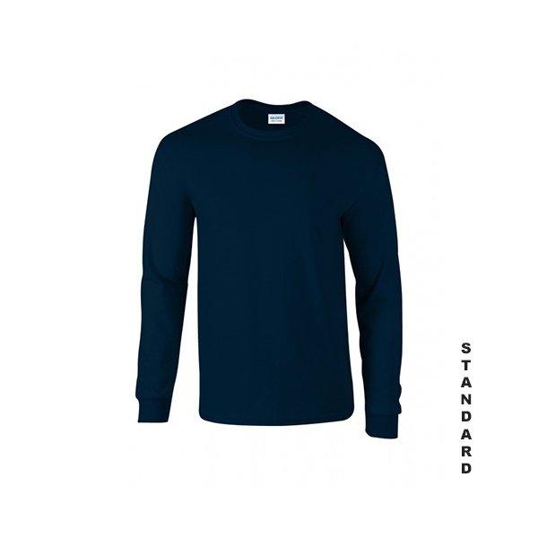 Marinblå långärmad t-shirt med eget tryck