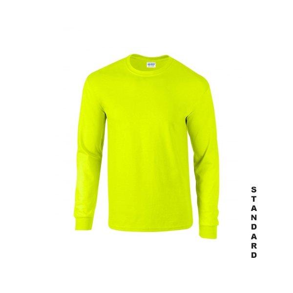 Varselgrön långärmad t-shirt med eget tryck