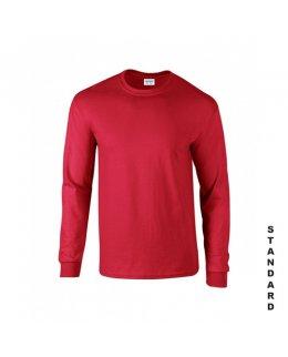 Röd långärmad t-shirt med eget tryck