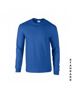 Kungsblå långärmad t-shirt med eget tryck