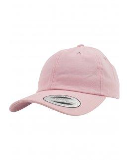 Rosa Yupoong Dad Hat med egen brodyr