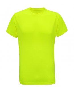 Varselgul tränings t-shirt med eget tryck - TriDri