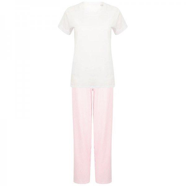 Rosa pyjamas-set långt med eget tryck