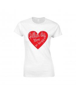 Älskar dig T-shirt Dam