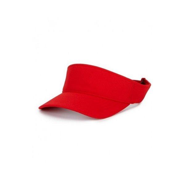 Röd Flexfit Visor keps med egen brodyr