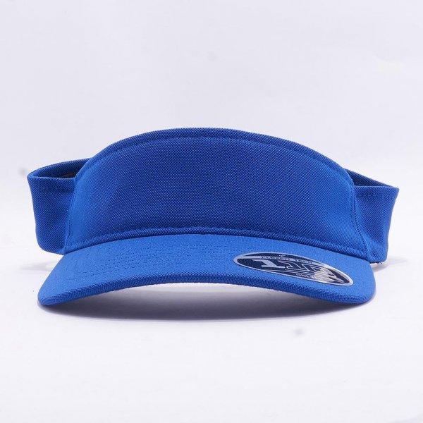 Blå Flexfit Visor keps med egen brodyr