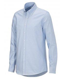 Ljusblå Oxford-skjorta herr med egen brodyr