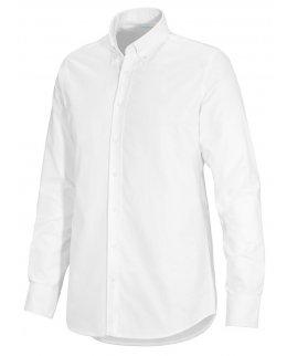 Vit Oxford-skjorta herr med egen brodyr