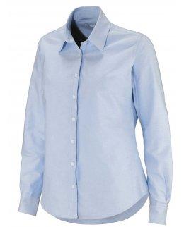 Ljusblå Oxford-skjorta dam med egen brodyr