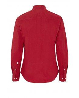 Röd Twill Slim Fit Skjorta herr - egen brodyr