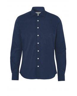 Navy Twill Slim Fit Skjorta herr - egen brodyr
