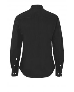 Svart Twill Comfort Skjorta herr - egen brodyr