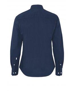 Marinblå Twill Comfort Skjorta herr - egen brodyr