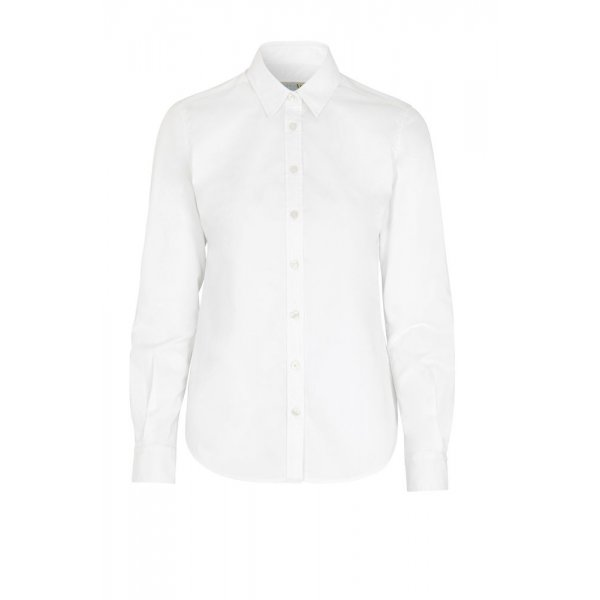 Vit Twill Comfort skjorta dam - egen brodyr