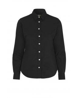 Svart Twill Comfort skjorta dam - egen brodyr