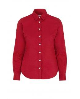 Röd Twill Comfort skjorta dam - egen brodyr