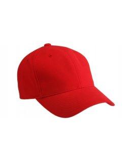 Röd premiumkeps baseball med egen brodyr