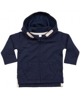 Baby zip-hoodie med eget tryck