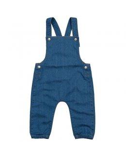 Hängslebyxor jeans baby med eget tryck