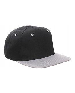 Snapback svart/grå med egen brodyr