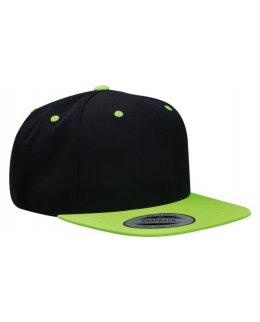 Snapback svart/neongrön med egen brodyr