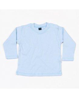 Dusty Blue Långärmad baby t-shirt med eget tryck