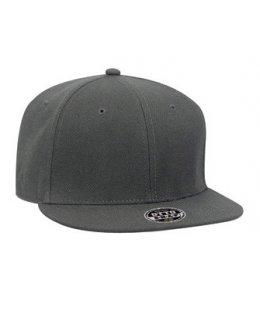 Mörkgrå snapback med egen brodyr - OTTO