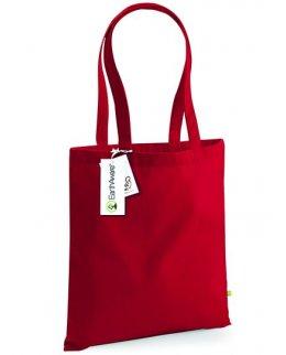 Röd tygkasse - ekobomull
