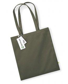 Olivgrön tygkasse - ekobomull