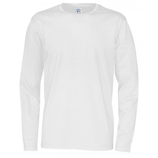 Vit Ekologisk Fairtrade Långärmad T-shirt Med Eget Tryck