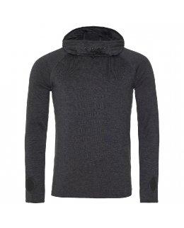 Svart Tränings-hoodie herr med eget tryck