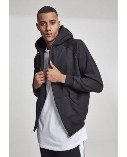 Svart EXTRA tjock zip hoodie med eget tryck
