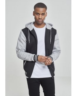 EXTRA tjock 2-tone zip hoodie med eget tryck