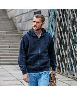 Parry Herr zip hoodie med eget tryck